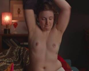 lena dunham topless for a cell phone photo pose 7594 4