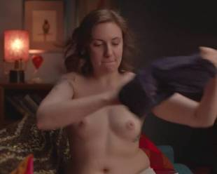 lena dunham topless for a cell phone photo pose 7594 6