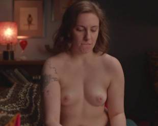 lena dunham topless for a cell phone photo pose 7594 7