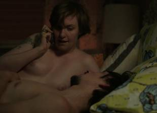 lena dunham topless for pillow talk interruption on girls 9375 13
