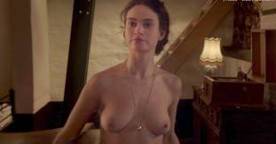 lily james nude in the exception sex scene 7127 9