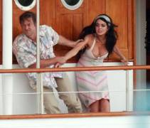 lindsay lohan boobs slip out of dress filming liz dick 6226 15