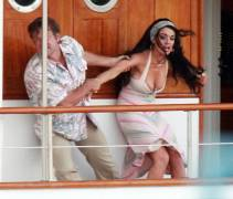 lindsay lohan boobs slip out of dress filming liz dick 6226 16