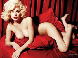 lindsay lohan nude as marilyn monroe 2352 4