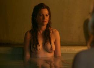 lucy lawless and viva bianca topless in the bath on spartacus 9639 14