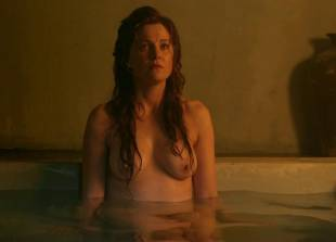 lucy lawless and viva bianca topless in the bath on spartacus 9639 2