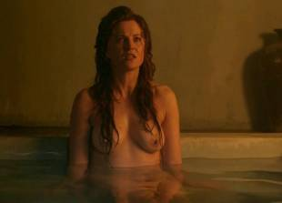 lucy lawless and viva bianca topless in the bath on spartacus 9639 3