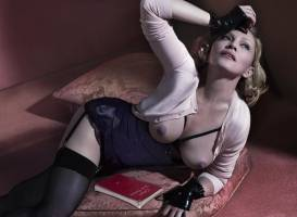 madonna topless to let breasts hang out in interview magazine 8825 8