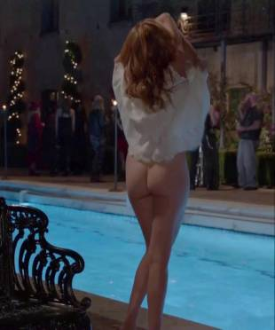 maggie grace nude ass bared for dip in pool on californication 5431 2