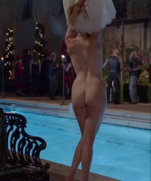 maggie grace nude ass bared for dip in pool on californication 5431 5