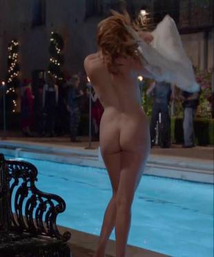 maggie grace nude ass bared for dip in pool on californication 5431 6