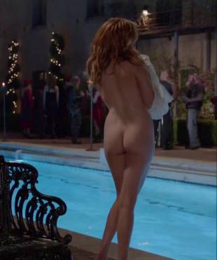 maggie grace nude ass bared for dip in pool on californication 5431 7