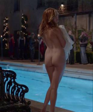 maggie grace nude ass bared for dip in pool on californication 5431 8