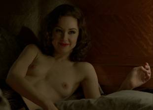 meg chambers steedle topless in bed on boardwalk empire 3372 9