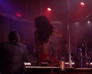 megalyn echikunwoke topless as stripper on house of lies 5537 8
