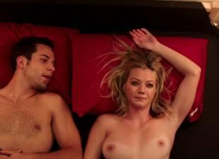 megan stevenson topless for sex in bed in cavemen 4526 13