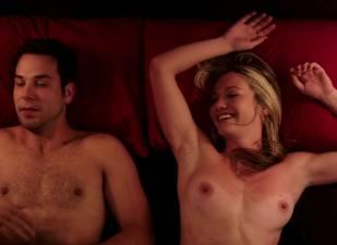 megan stevenson topless for sex in bed in cavemen 4526 16