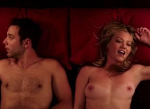 megan stevenson topless for sex in bed in cavemen 4526 17