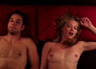 megan stevenson topless for sex in bed in cavemen 4526 18