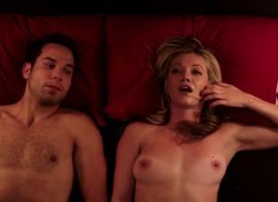 megan stevenson topless for sex in bed in cavemen 4526 19