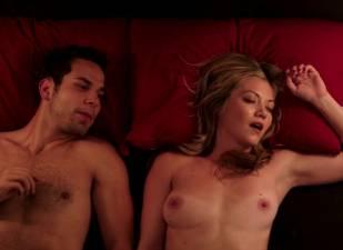 megan stevenson topless for sex in bed in cavemen 4526 22