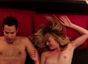 megan stevenson topless for sex in bed in cavemen 4526 3