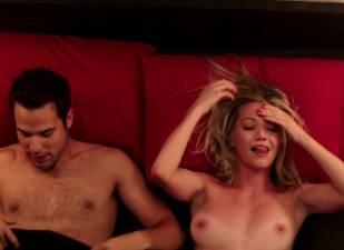 megan stevenson topless for sex in bed in cavemen 4526 5
