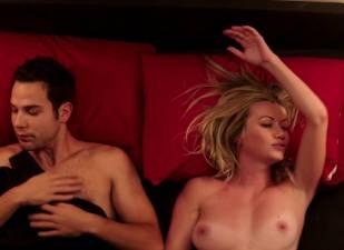 megan stevenson topless for sex in bed in cavemen 4526 6