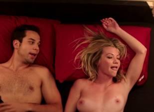 megan stevenson topless for sex in bed in cavemen 4526 7