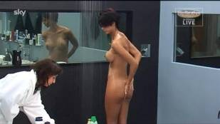 micaela schaefer nude in the shower on big brother germany 2912 5