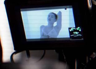 miley cyrus breasts bared behind scenes of adore you 5831 13