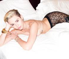 miley cyrus topless breasts bared for terry richardson 1093 10