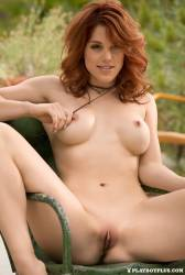 molly stewart nude to spread outdoors for playboy 18