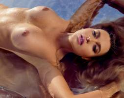 monica sims nude full frontal for swim in playboy 5422 13