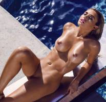 monica sims nude full frontal for swim in playboy 5422 6