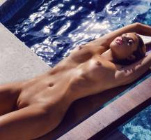 monica sims nude full frontal for swim in playboy 5422 7
