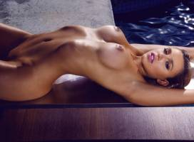 monica sims nude full frontal for swim in playboy 5422 8