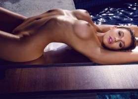 monica sims nude full frontal for swim in playboy 5422 9