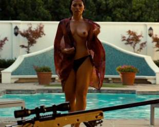 natalie becker topless out of pool in strike back 1748 19