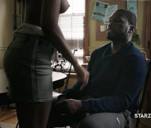 natalie paul topless with 50 cent exposed in power 5036 10