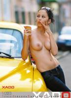 nude girls in cars for xado official 2013 calendar 6270 10