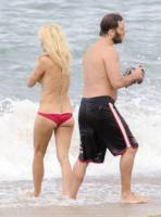 pamela anderson topless run at french beach 3604 12