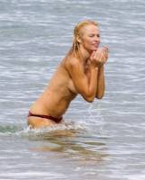 pamela anderson topless run at french beach 3604 8