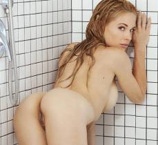 playmate of the year dani mathers nude full frontal in shower 9415 26