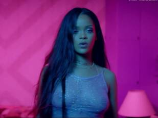 rihanna bare breasts star in work music video with drake 7062 1