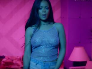 rihanna bare breasts star in work music video with drake 7062 12