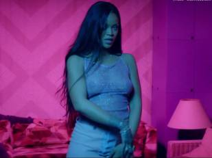 rihanna bare breasts star in work music video with drake 7062 13