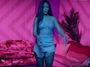 rihanna bare breasts star in work music video with drake 7062 14