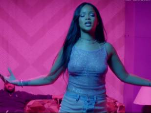 rihanna bare breasts star in work music video with drake 7062 15