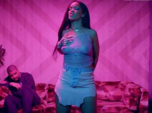 rihanna bare breasts star in work music video with drake 7062 16